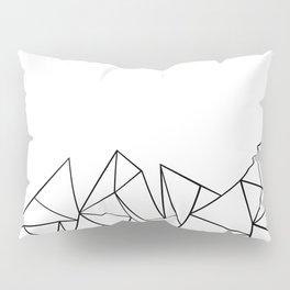 Ab Peaks White Pillow Sham