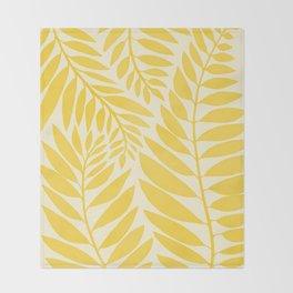 Golden Yellow Leaves Throw Blanket