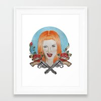 hayley williams Framed Art Prints featuring Hayley Williams Wanted! by Toma.