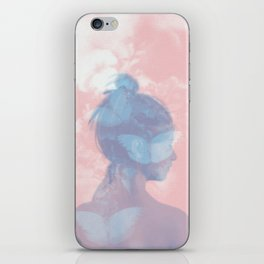 Butterfly Girl iPhone Skin