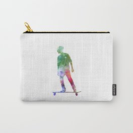 Man skateboard 08 in watercolor Carry-All Pouch