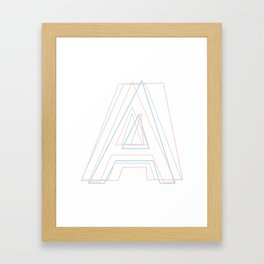 Intertwined Strength and Elegance of the Letter A Framed Art Print