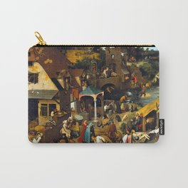 Pieter Brueghel Netherlandish Proverbs Carry-All Pouch