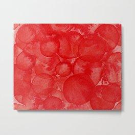 Cadmium Red Watercolour Metal Print