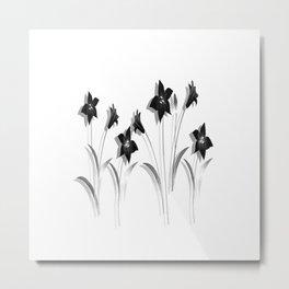 Schwarze Lilien Metal Print