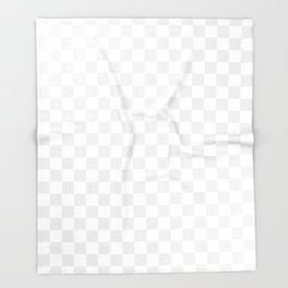 Small Checkered - White and Pale Gray Throw Blanket