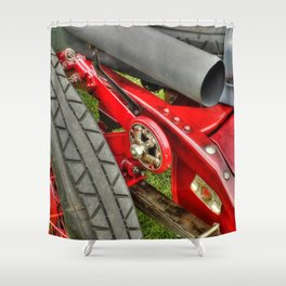 Vintage Car Rear Quarter Shower Curtain