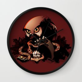 The Dead Cowboy, The Rattlesnake and The Owl Wall Clock