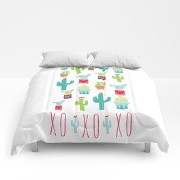 XOXO Cactus Valentine Love Pattern Comforters