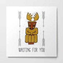 Waiting for you Metal Print