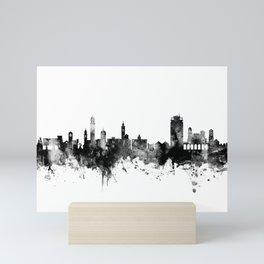 Lugano Switzerland Skyline Mini Art Print