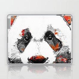 Panda Bear Art - Black White Red - By Sharon Cummings Laptop & iPad Skin