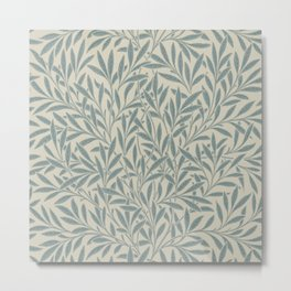 William Morris Willow Slate Metal Print