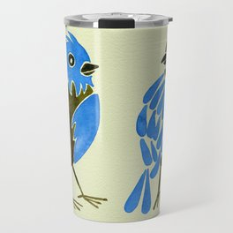 Blue Finches Travel Mug