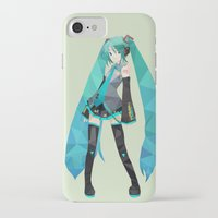 vocaloid iPhone & iPod Cases featuring Miku by Sally Taylor