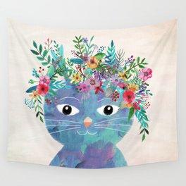Flower cat II Wall Tapestry