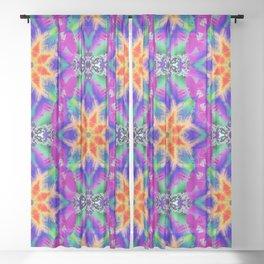 Psychedelic Garden of  Love.... Sheer Curtain