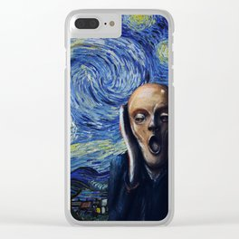 Starry Scream Clear iPhone Case