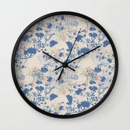 Flore de Prarie Wall Clock