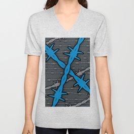 Barbed ELECTRIC BLUE Unisex V-Neck