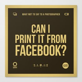 Facebook Canvas Print