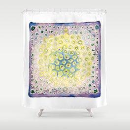 Under the Scope - Diatom - Purple Palette Shower Curtain