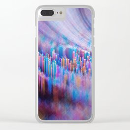 Rainbow road Clear iPhone Case