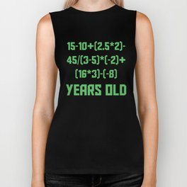21 Years Old Algebra Equation Funny 21st Birthday Biker Tank