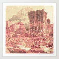 Crumble Mountain Art Print