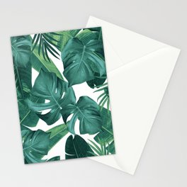 Tropical Summer Jungle Leaves Dream #2 #tropical #decor #art #society6 Stationery Cards