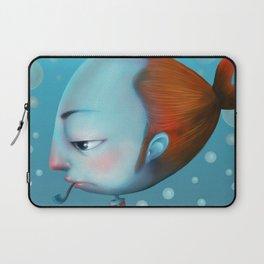 bored fish guy Laptop Sleeve
