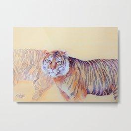 Twilight prowl - Tiger Metal Print