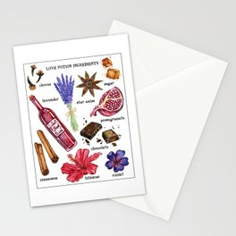 Love Potion Ingredients Stationery Cards
