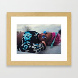 Pink's Blues Framed Art Print