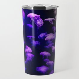 Jellyfish - purple and pink Travel Mug