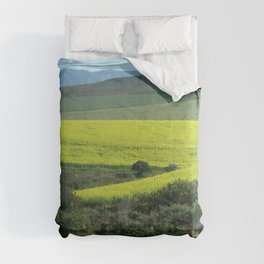 Rolling Hills and Meadows Landscape, South Africa Comforters