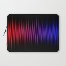Colorful lines on black background Laptop Sleeve