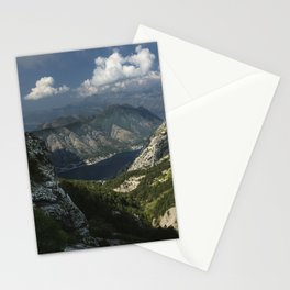 Kotor Bay in Montenegro Stationery Cards