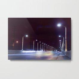 Last Lights Downtown. Metal Print