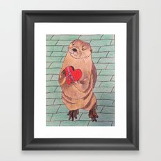 Otter be in love! Framed Art Print