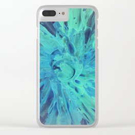 blue theme Clear iPhone Case