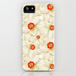 White narcissus iPhone Case