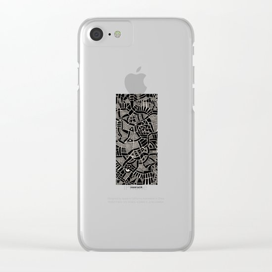 - modern - Clear iPhone Case
