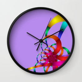 chaotic colors -1- Wall Clock