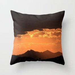 Desert Mountain Sunset VI Throw Pillow
