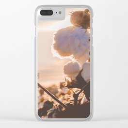 Cotton Field 15 Clear iPhone Case
