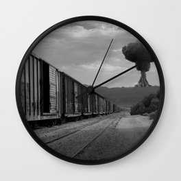 Nuke Train Wall Clock