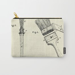 Paint Brushes-1873 Carry-All Pouch