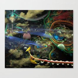 The Bioluminoidal Fractalization Process Canvas Print