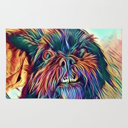 The GRIFFON from our POP YOUR POOCH line Rug